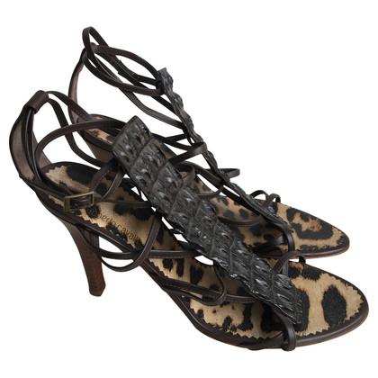 Roberto Cavalli  Aligator sandals