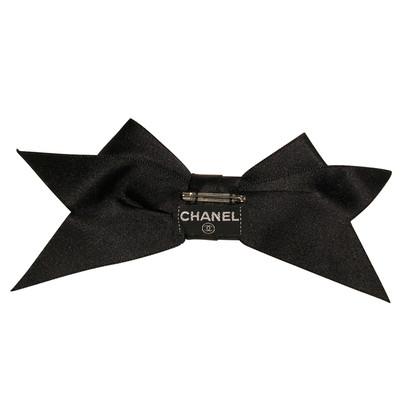 Chanel Strik/broche zwart zijde