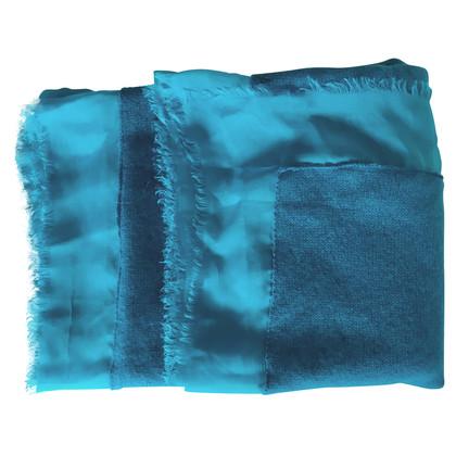 Riani Kasjmier sjaal met zijde blauw