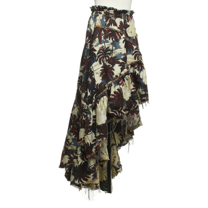 Philosophy di Lorenzo Serafini skirt with palm pattern