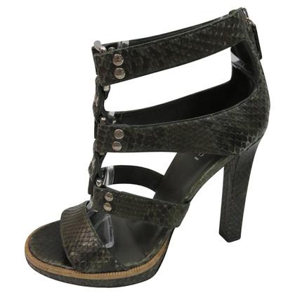Gucci Python leather sandals