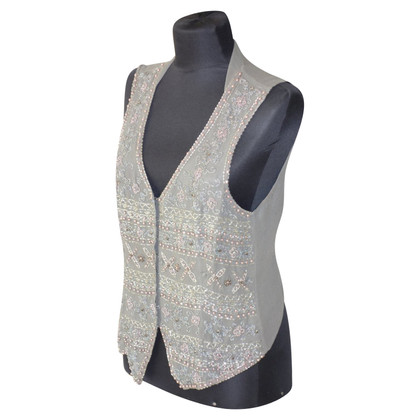Schumacher Silk vest with beaded embroidery