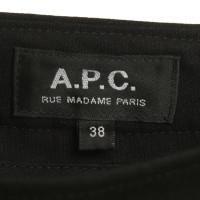 A.P.C. Bandplooibroeken in zwart