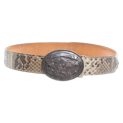 Other Designer Reptile's House - Python leather belt