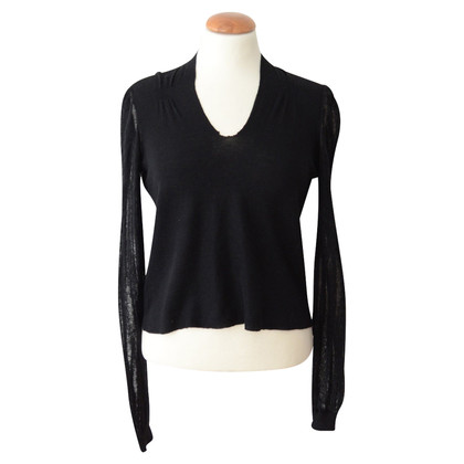 Jil Sander Black sweater cropped