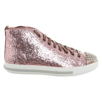 Miu Miu Sneakers mit Paillettenbesatz
