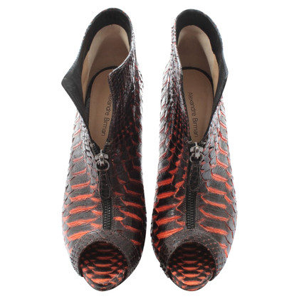 Alexandre Birman Bottines python peep toes
