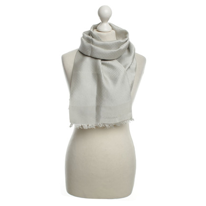 Dolce & Gabbana Sciarpa di seta in grigio
