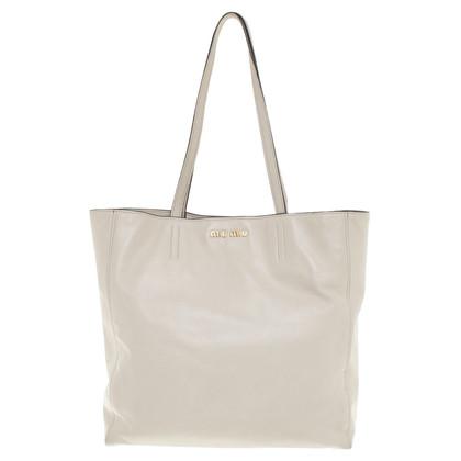 Miu Miu Tote Bag in cream