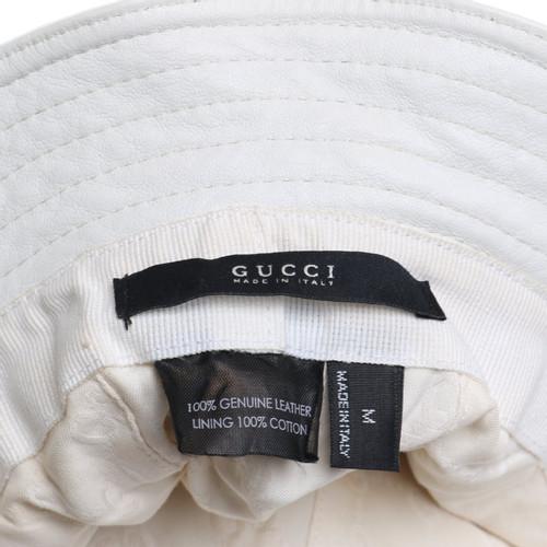A basso prezzo ultime tendenze colori delicati Gucci Cappello in beige-bianco - Second hand Gucci Cappello ...