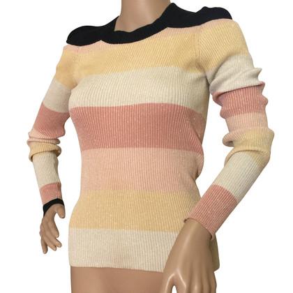 Sonia Rykiel Striped metallic knitted  sweater