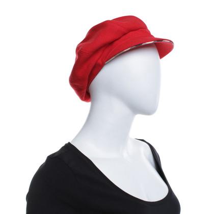 Burberry Flatcap in Red