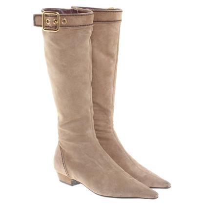 Prada Suede boots in beige