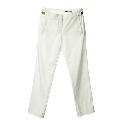 Hugo Boss Witte broek met goudkleurige applicaties