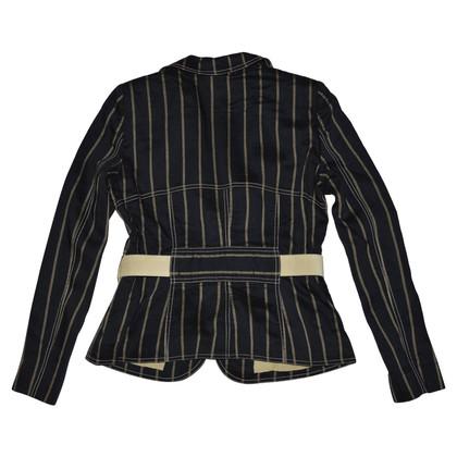 Armani Collezioni blazer en lin avec ceinture