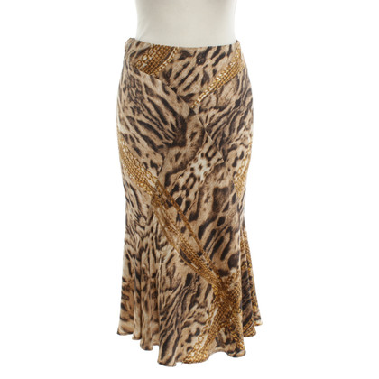 Roberto Cavalli Silk skirt with tiger pattern