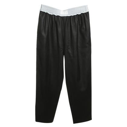 Alexander Wang pantaloni di lana in blu scuro