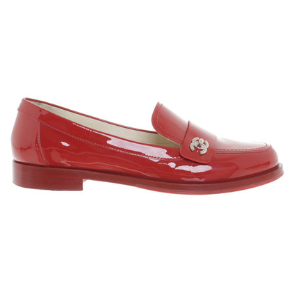 Chanel Moccasins made of red patent leather