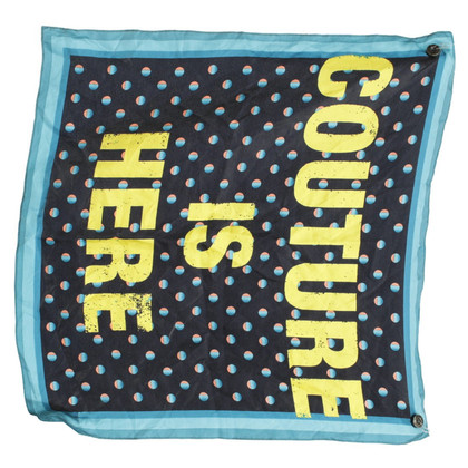Juicy Couture Silk scarf with motif print