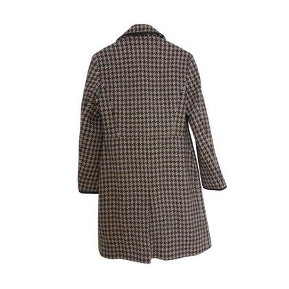 Coach Colourway Hahnentritt cappotto con calde tonalità marroni