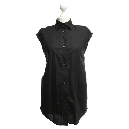 Maison Martin Margiela Short Sleeve Blouse in Black