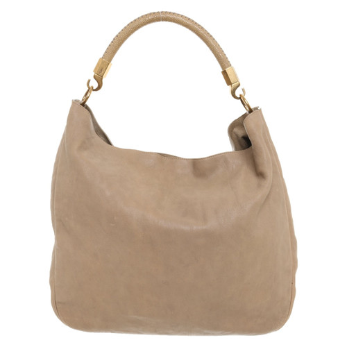 2dbf3367b500 Yves Saint Laurent Tote bag Leather in Beige - Second Hand Yves ...