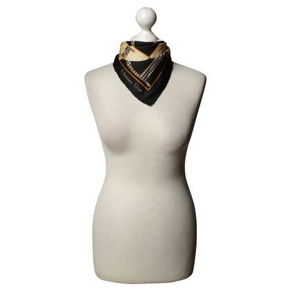 Christian Dior Zijden sjaal met patroon