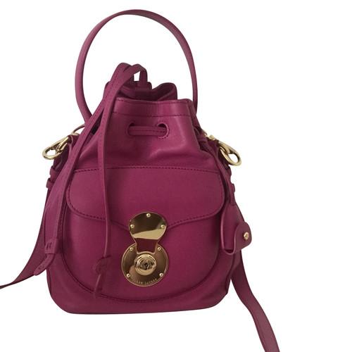 c7d37adad26f Ralph Lauren Shoulder bag Leather in Pink - Second Hand Ralph Lauren ...