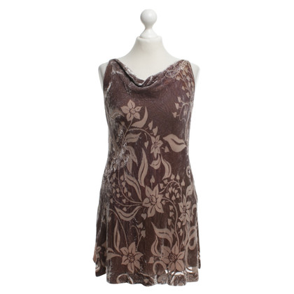 Whistles Velvet Dress in Beige