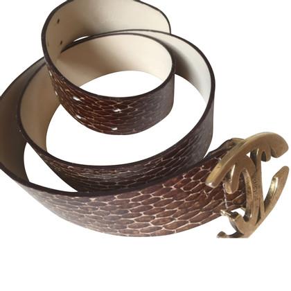 Just Cavalli Gürtel mit Schlangenleder