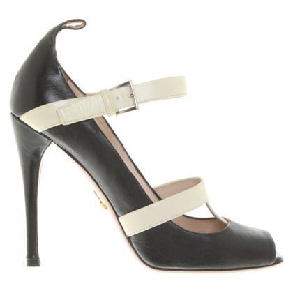 Prada Leather peep toes