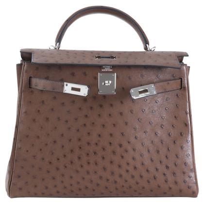 """Hermès """"Kelly Bag 32"""" aus Straußenleder"""