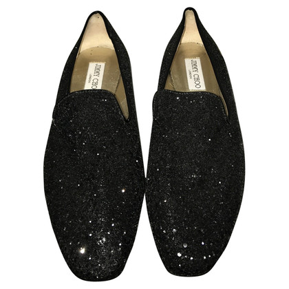 Jimmy Choo Slipper with glitter trim