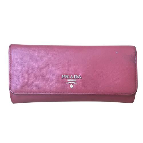 bde57435e7b31 Prada Portemonnaie aus Saffiano-Leder - Second Hand Prada ...