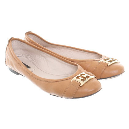 Escada Ballerinas in Brown