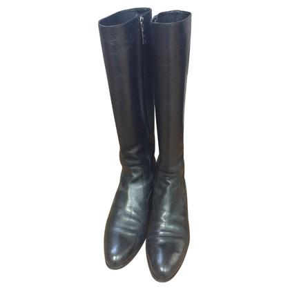 Prada Black Boots with Zipper
