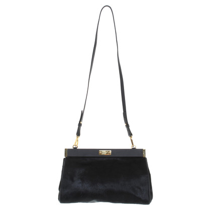 Marni Shoulder bag with fur trim