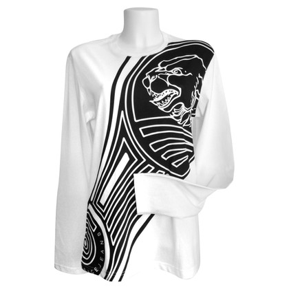 Versace Blouse in black / white