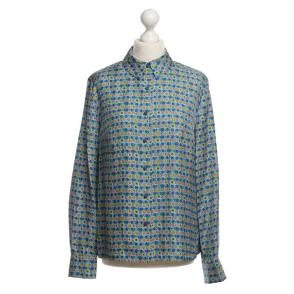 Manoush Silk blouse with colourful patterns