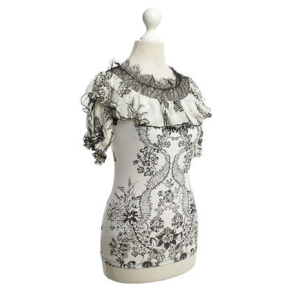 Roberto Cavalli Top with floral print