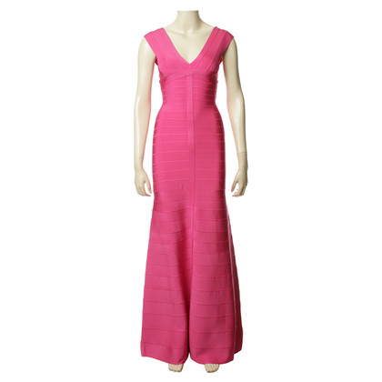 Herve Leger Evening dress in pink