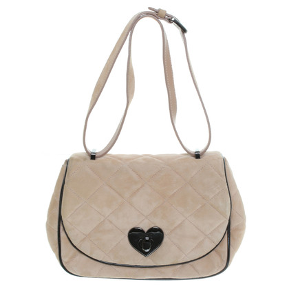 Moschino nude leather handbag