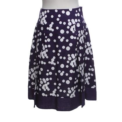 Hobbs Linen skirt with polka dots