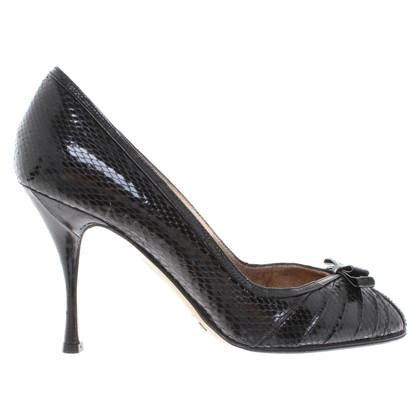 Dolce & Gabbana Peep-toes in animal design
