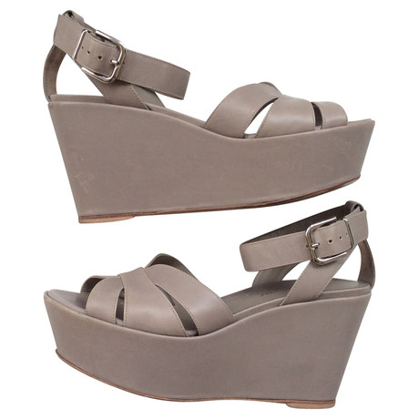 Gianvito Gianvito Wedges Rossi Wedges in Grau Grau Rossi in C7q6vw