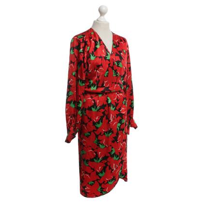 Yves Saint Laurent Kleid mit floralem Muster