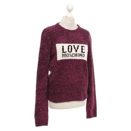 Moschino Love Pullover mit Glitzer