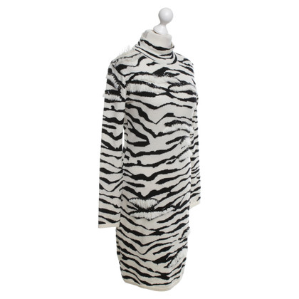 Blumarine abito in maglia con motivo zebrato