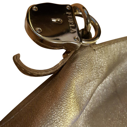 Furla Silberfarbene Handtasche