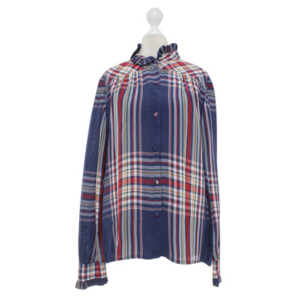 Philosophy di Lorenzo Serafini Blouse with plaid pattern